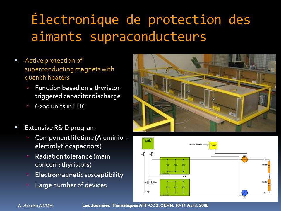 Électronique de protection des aimants supraconducteurs
