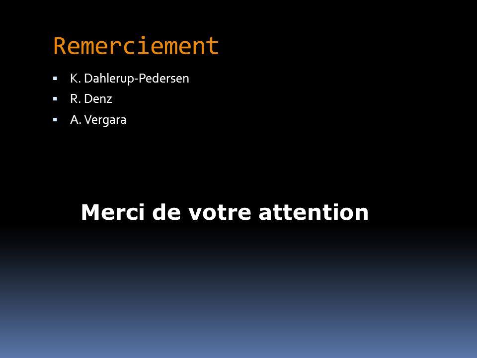 Remerciement Merci de votre attention K. Dahlerup-Pedersen R. Denz