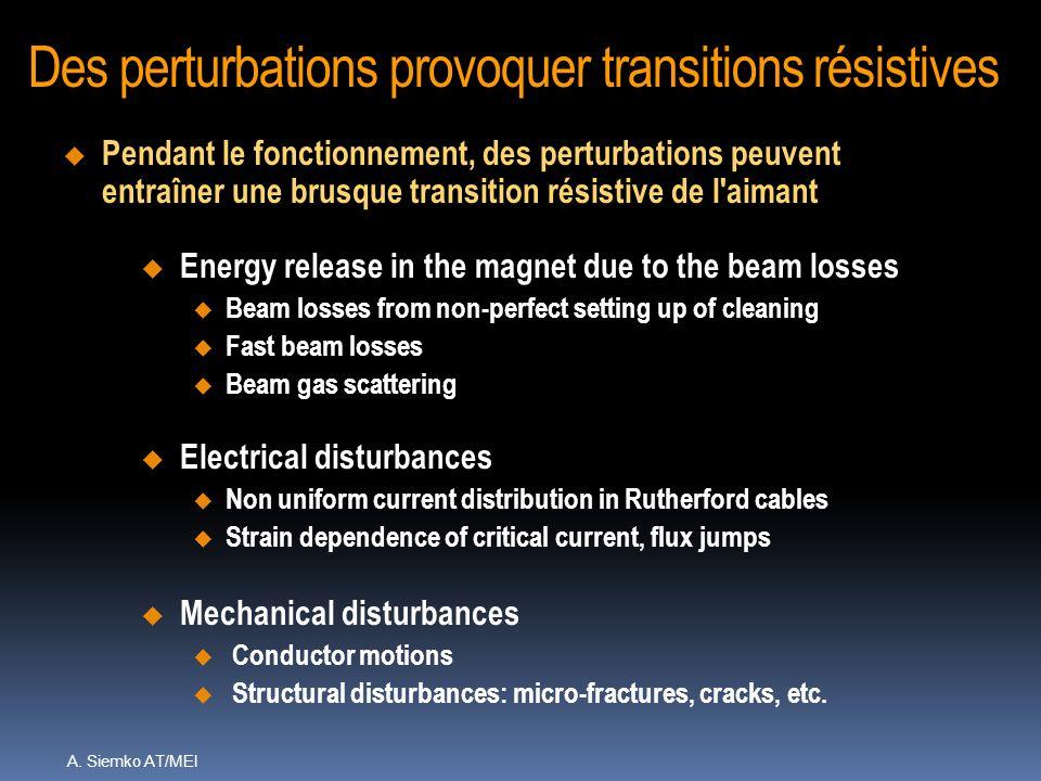 Des perturbations provoquer transitions résistives