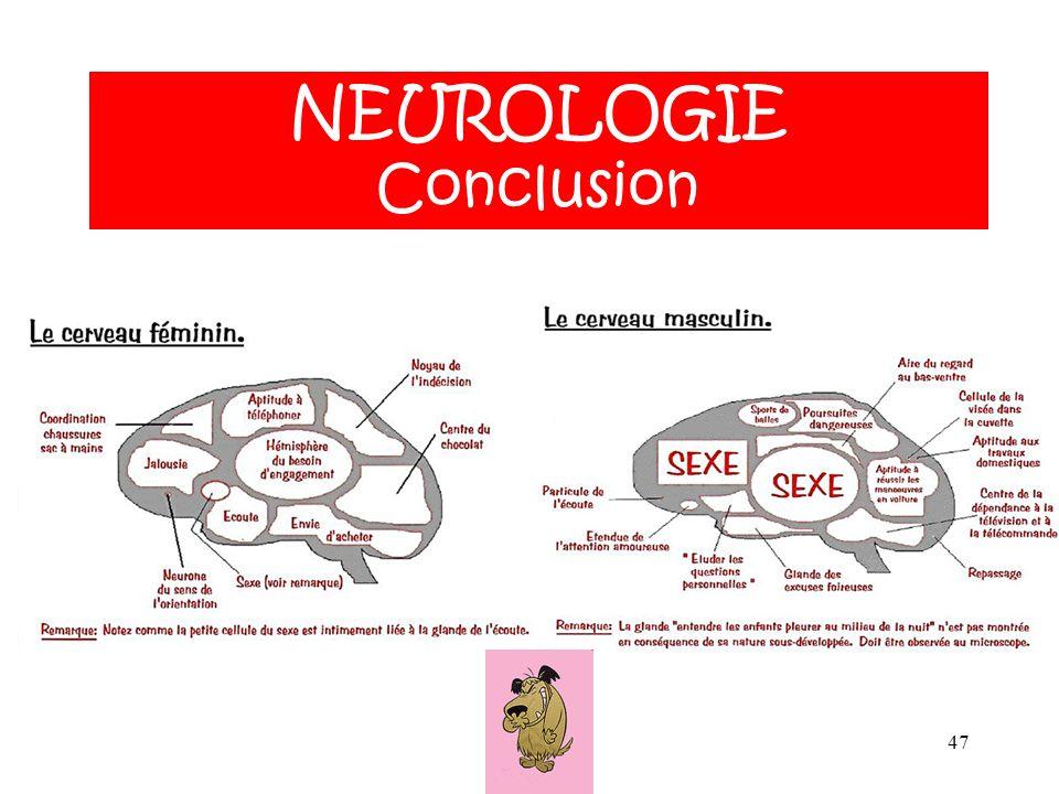 NEUROLOGIE ANATOMIE NEUROLOGIE Conclusion