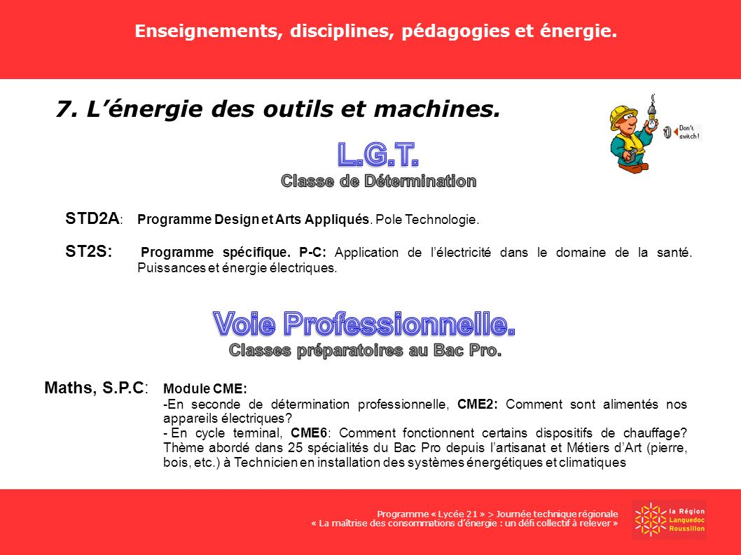 L.G.T. Voie Professionnelle.