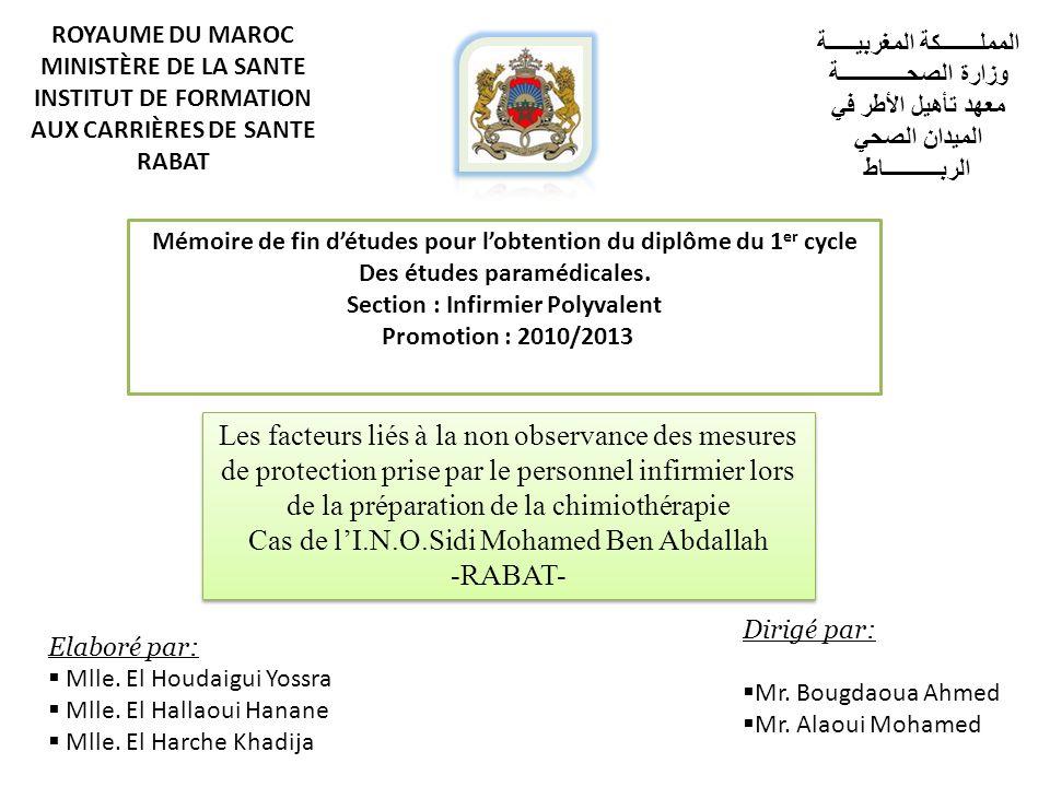 Cas de l'I.N.O.Sidi Mohamed Ben Abdallah -RABAT-