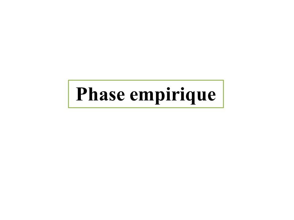 Phase empirique