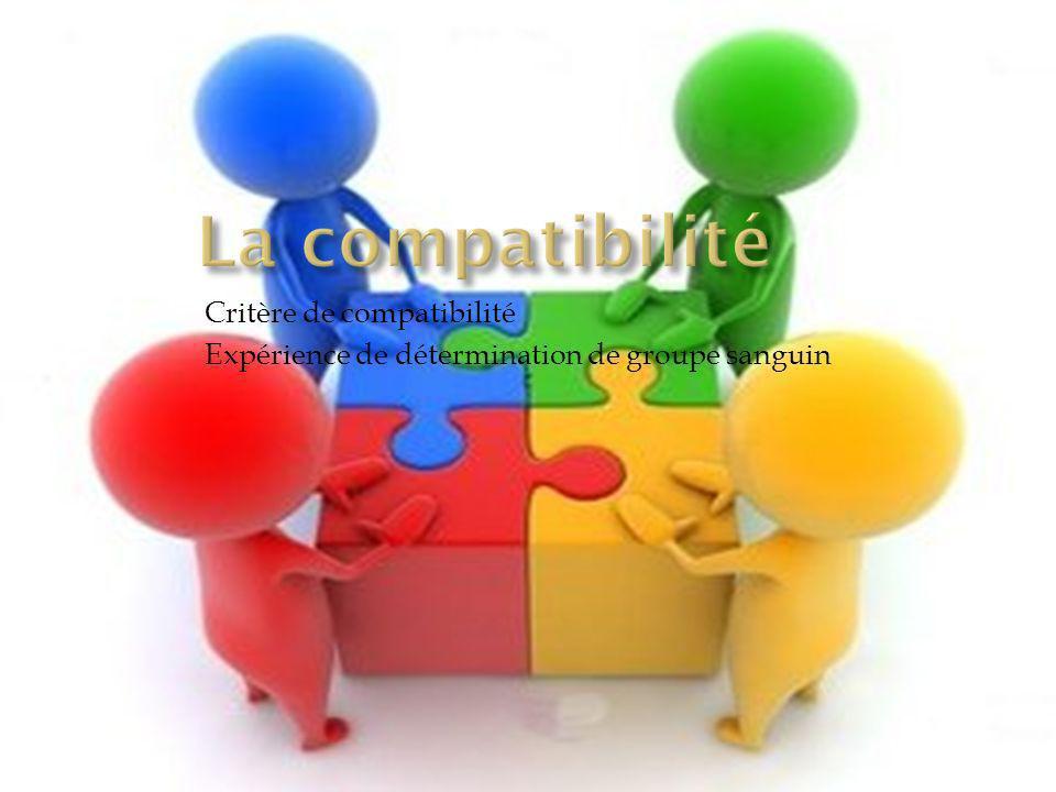 La compatibilité Critère de compatibilité