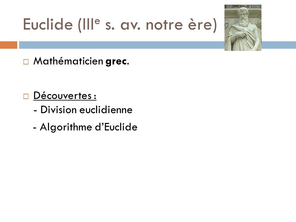 Euclide (IIIe s. av. notre ère)