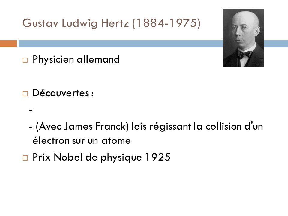 Gustav Ludwig Hertz (1884-1975)
