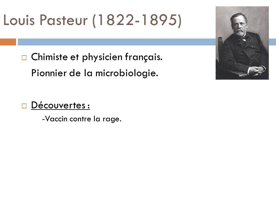 Louis Pasteur (1822-1895) Chimiste et physicien français.