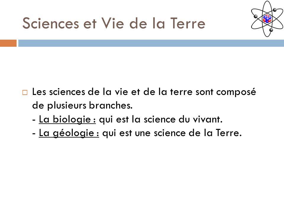Sciences et Vie de la Terre