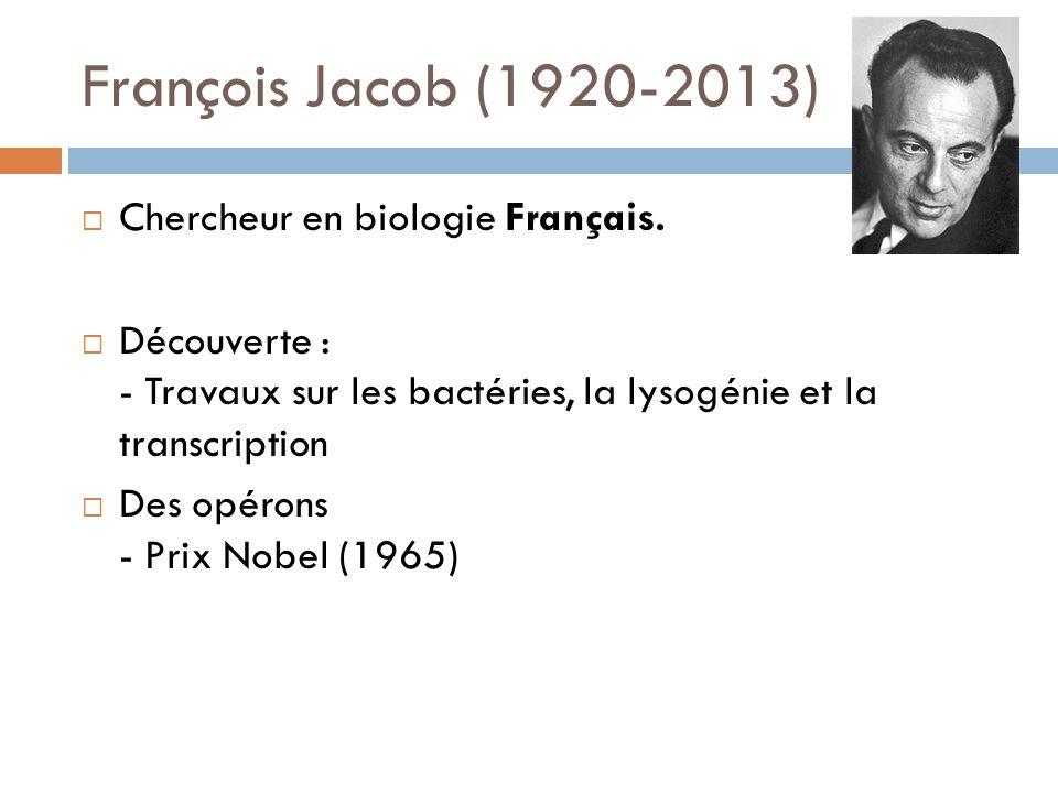François Jacob (1920-2013) Chercheur en biologie Français.