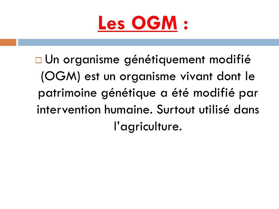 Les OGM :