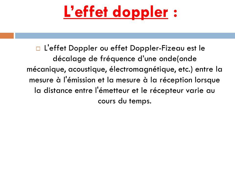 L'effet doppler :