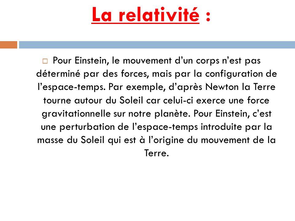 La relativité :