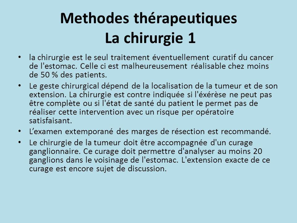 Methodes thérapeutiques La chirurgie 1