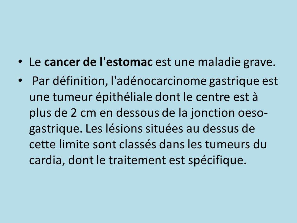 Le cancer de l estomac est une maladie grave.
