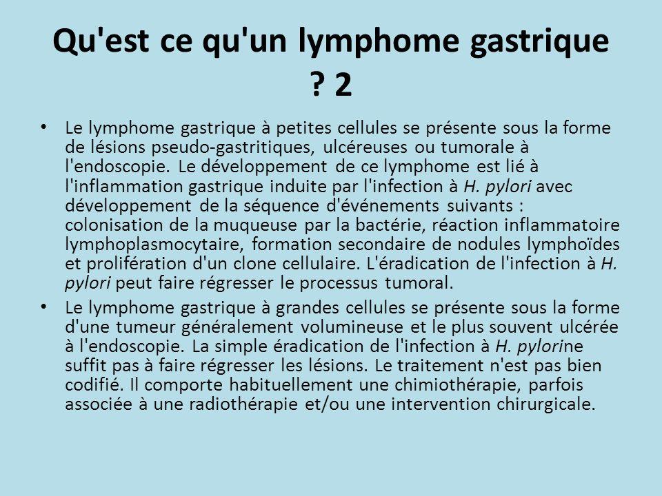Qu est ce qu un lymphome gastrique 2