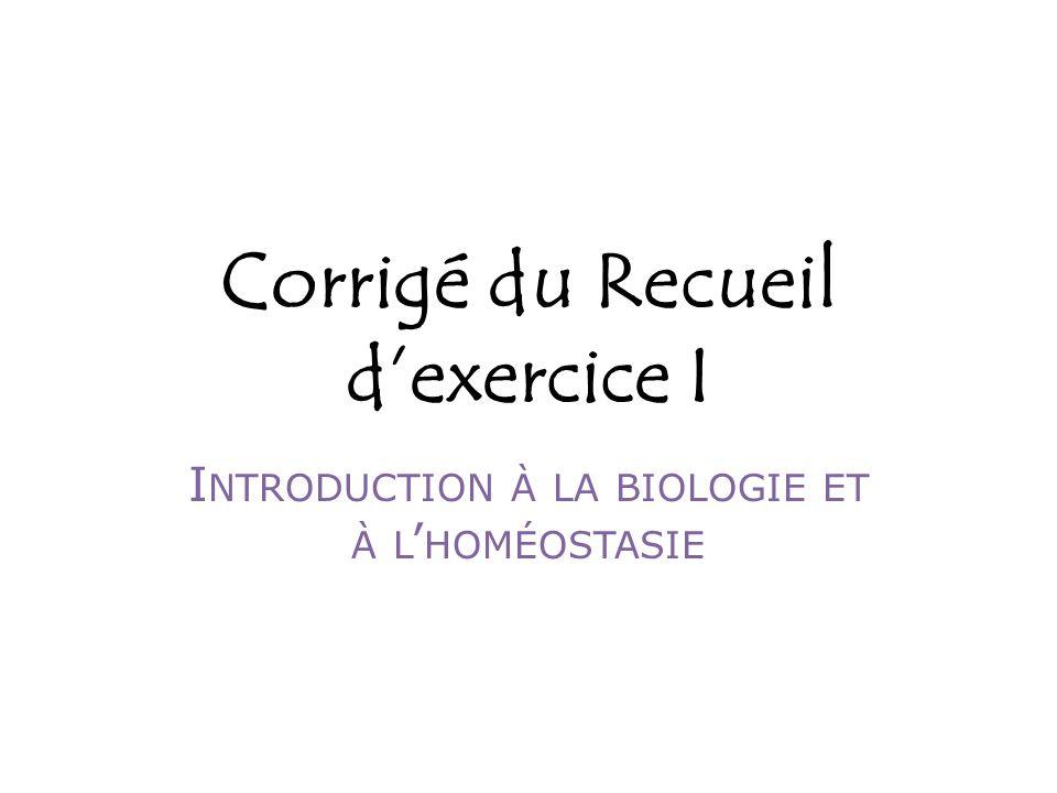 Corrigé du Recueil d'exercice I