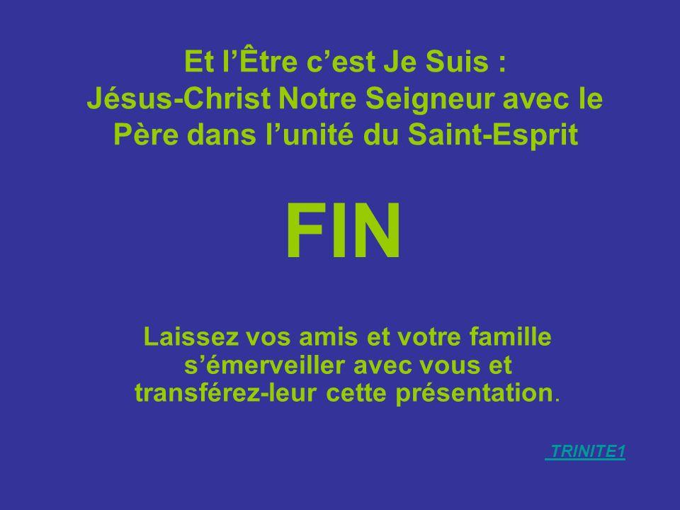 Et l'Être c'est Je Suis : Jésus-Christ Notre Seigneur avec le Père dans l'unité du Saint-Esprit