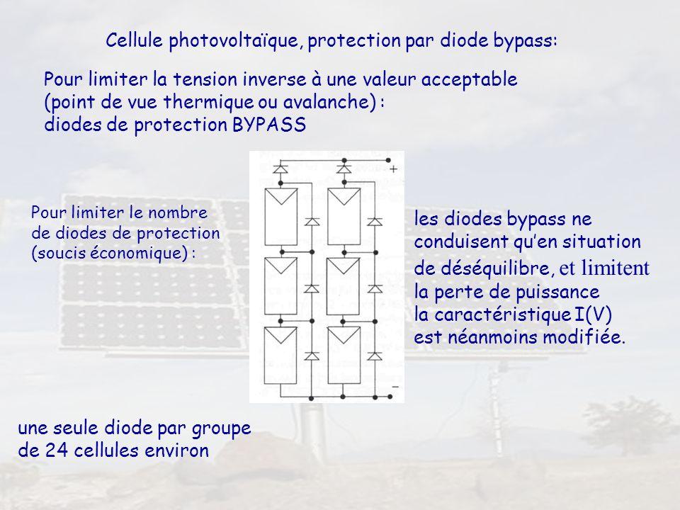 Cellule photovoltaïque, protection par diode bypass: