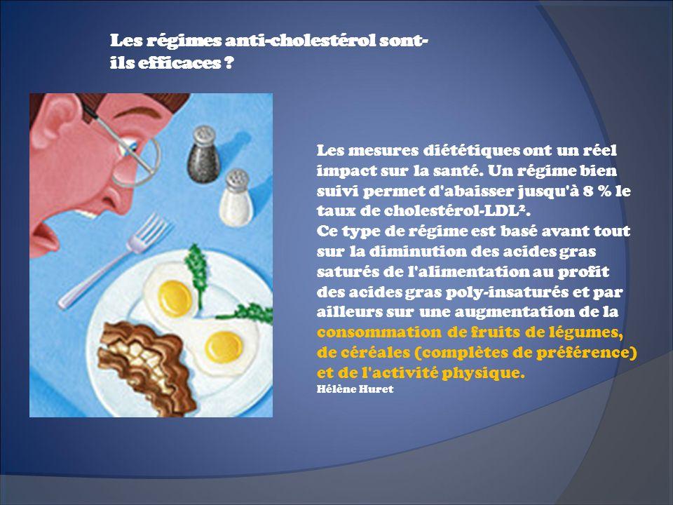 Les régimes anti-cholestérol sont-ils efficaces