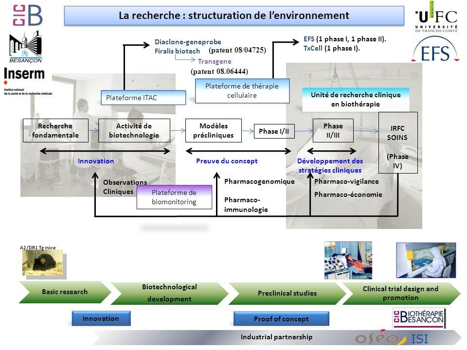 La recherche : structuration de l'environnement