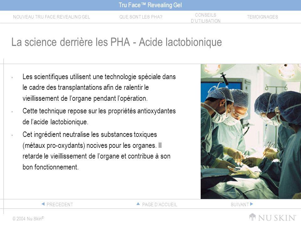 La science derrière les PHA - Acide lactobionique