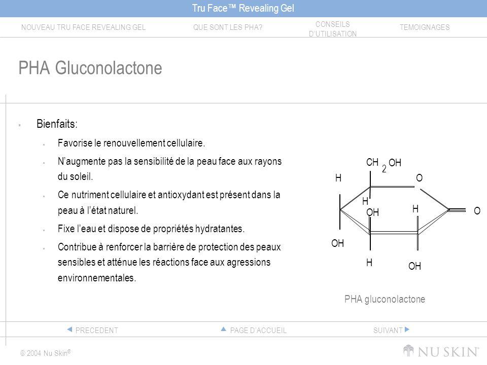 PHA Gluconolactone Bienfaits: Favorise le renouvellement cellulaire.