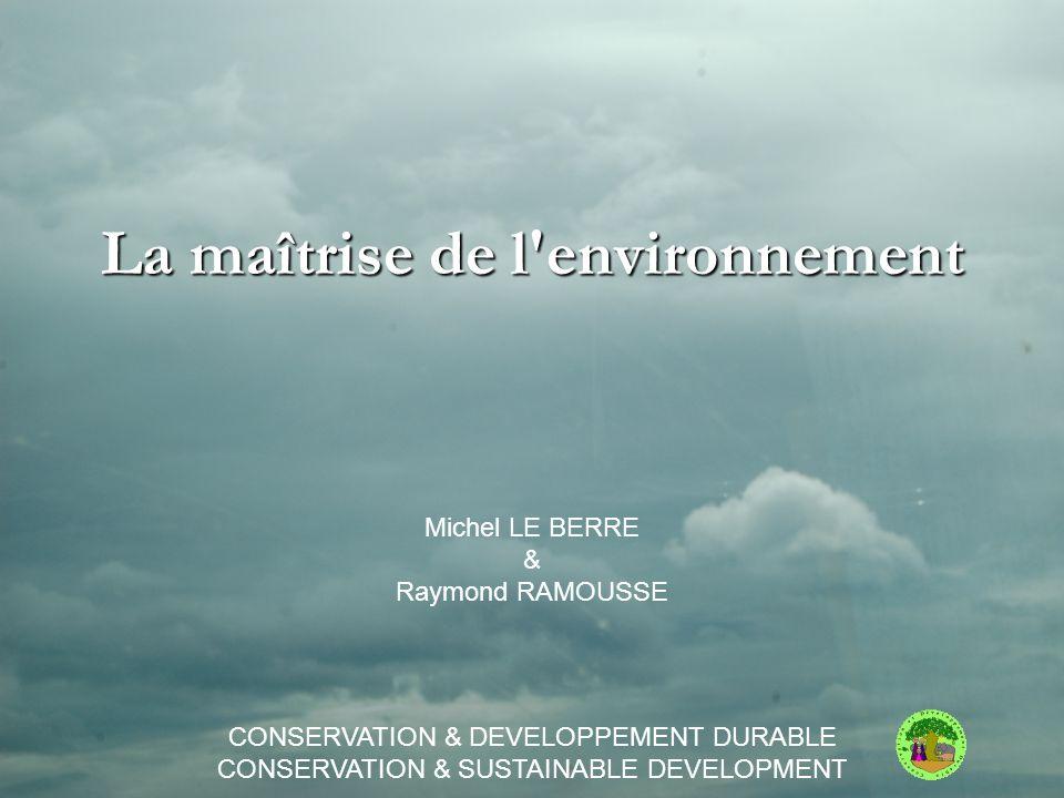 La maîtrise de l environnement