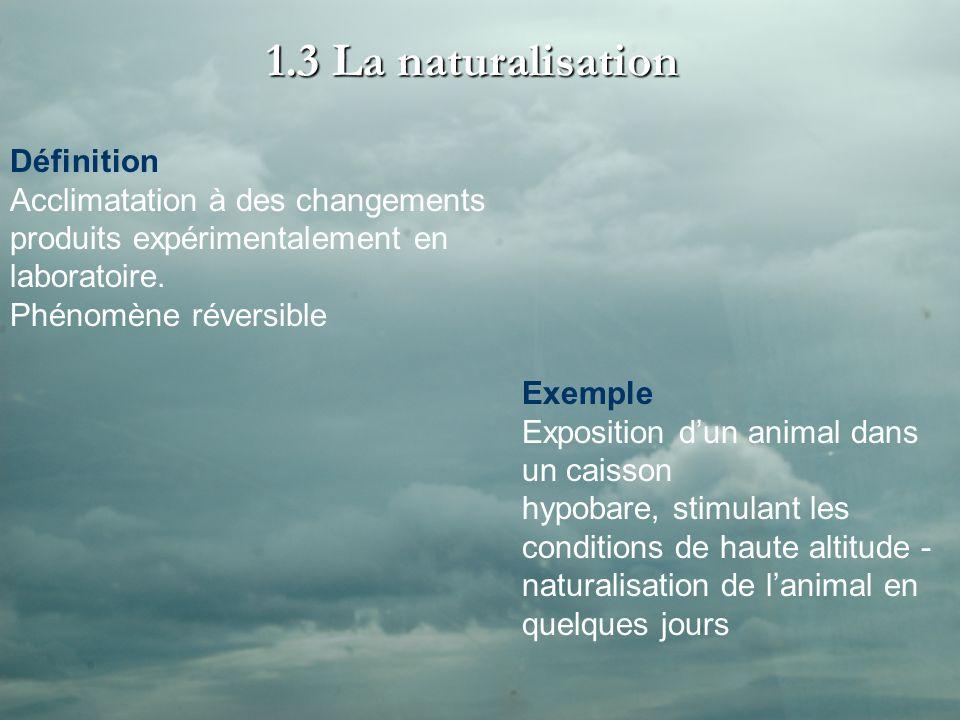 1.3 La naturalisation Définition