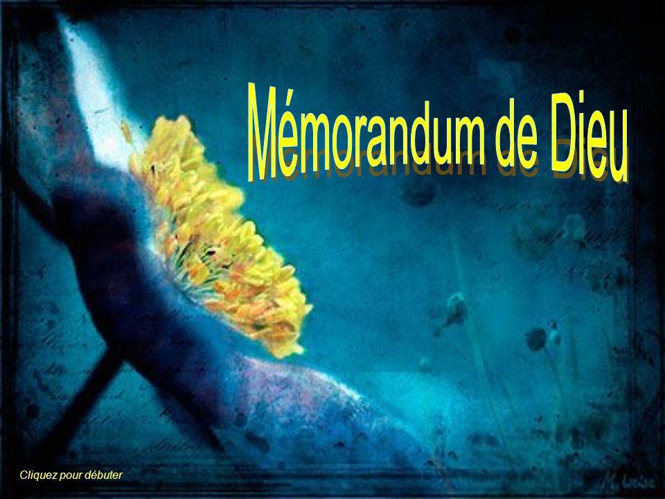 Mémorandum de Dieu Cliquez pour débuter