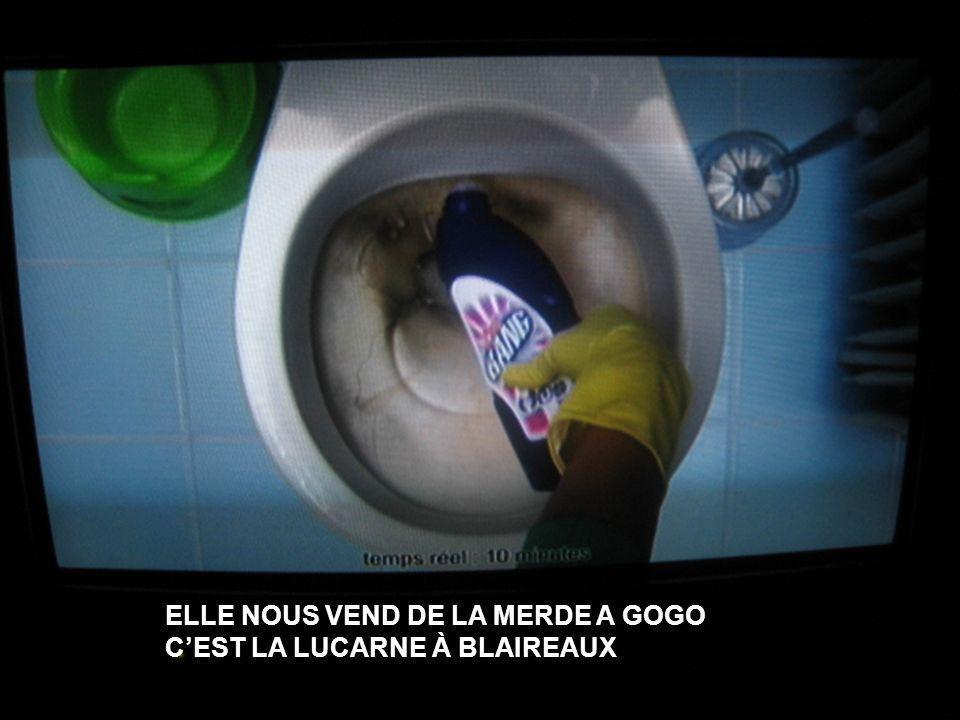 ELLE NOUS VEND DE LA MERDE A GOGO C'EST LA LUCARNE À BLAIREAUX