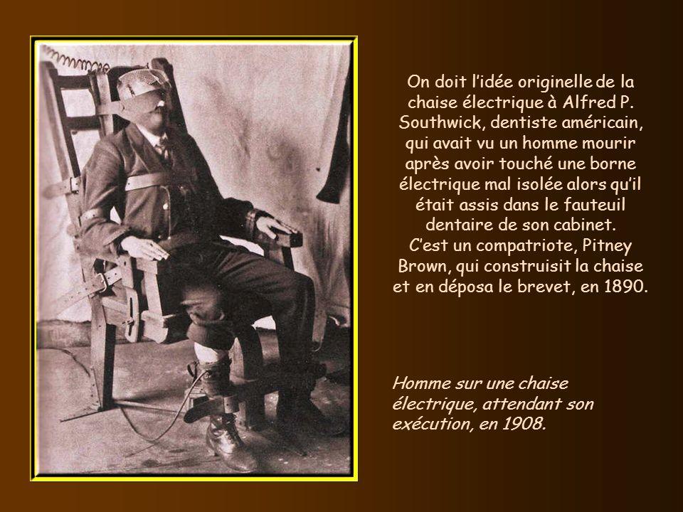 On doit l'idée originelle de la chaise électrique à Alfred P