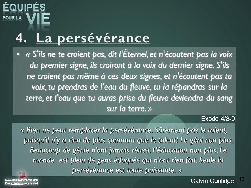 La persévérance