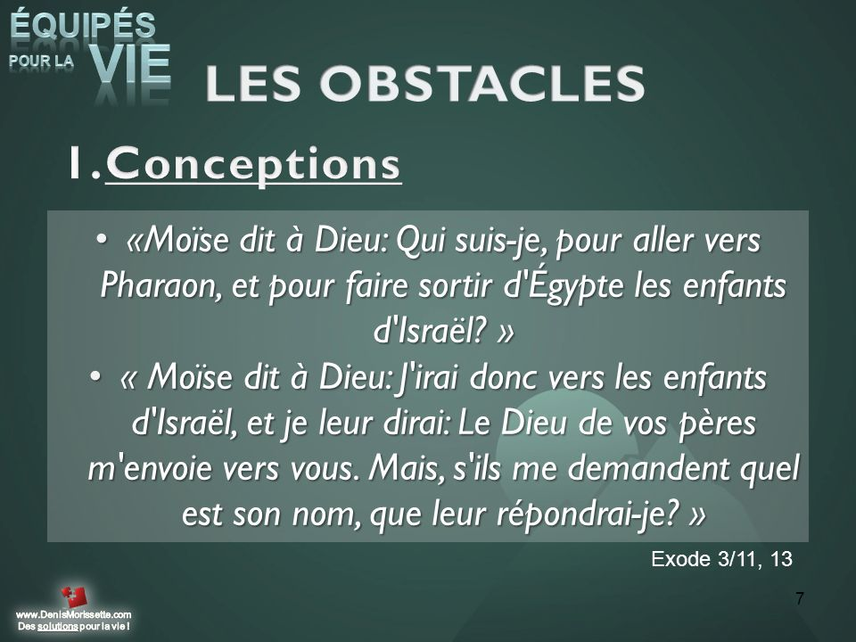 LES OBSTACLES Conceptions