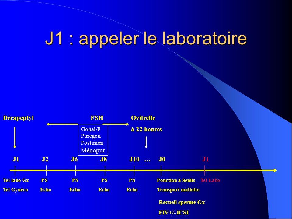 J1 : appeler le laboratoire
