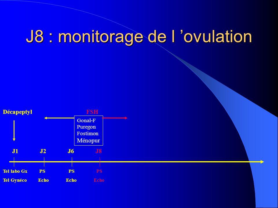 J8 : monitorage de l 'ovulation
