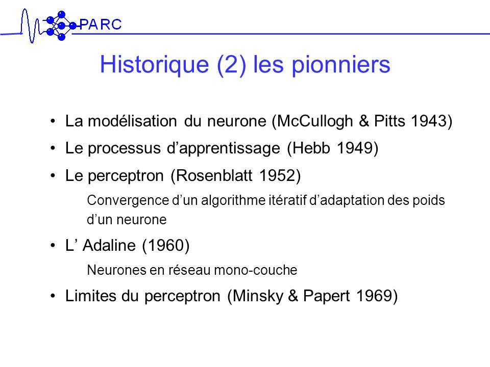 Historique (2) les pionniers