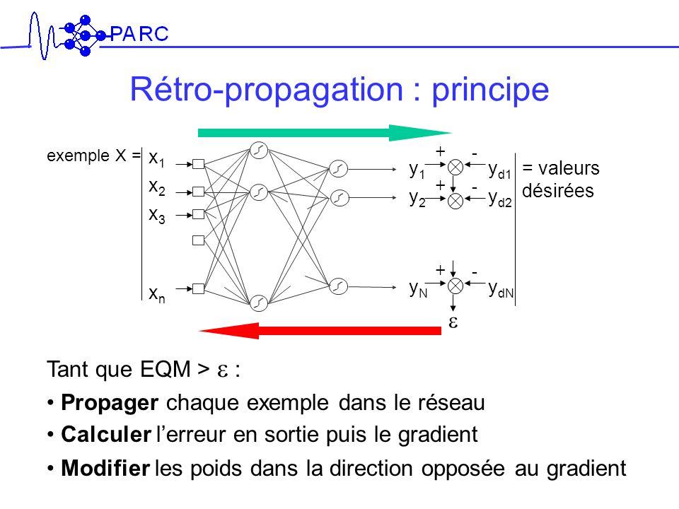 Rétro-propagation : principe