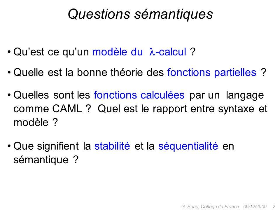 Questions sémantiques