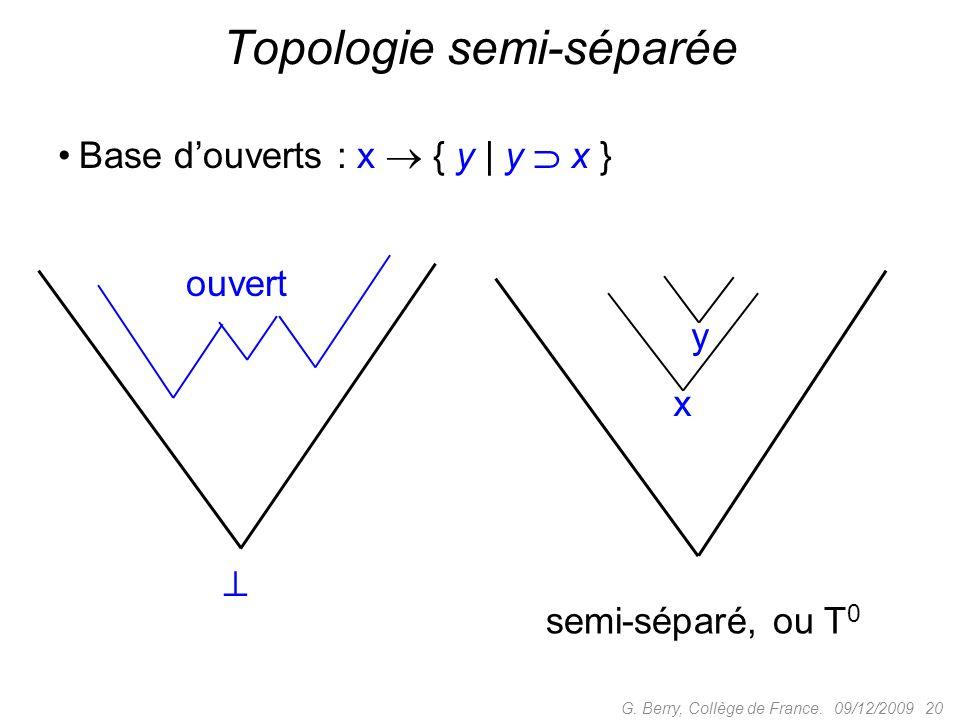 Topologie semi-séparée
