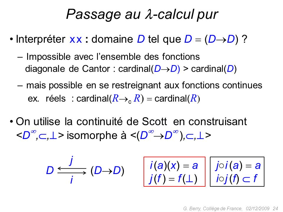 Passage au -calcul pur