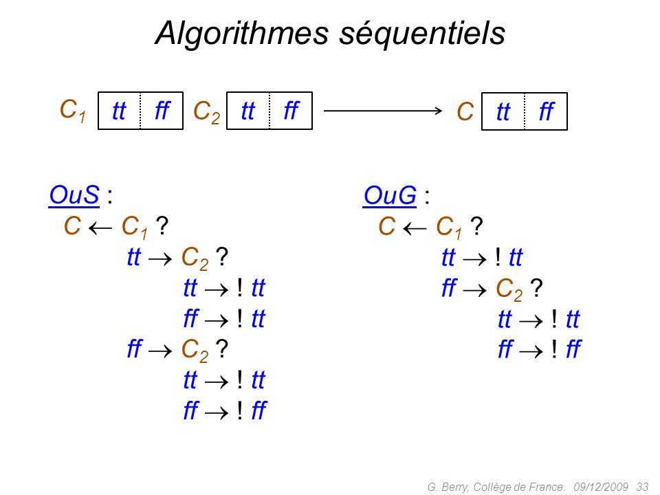 Algorithmes séquentiels