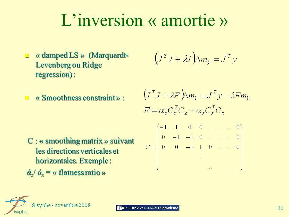 L'inversion « amortie »