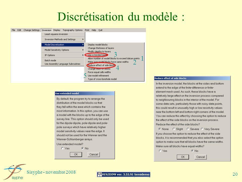 Discrétisation du modèle :