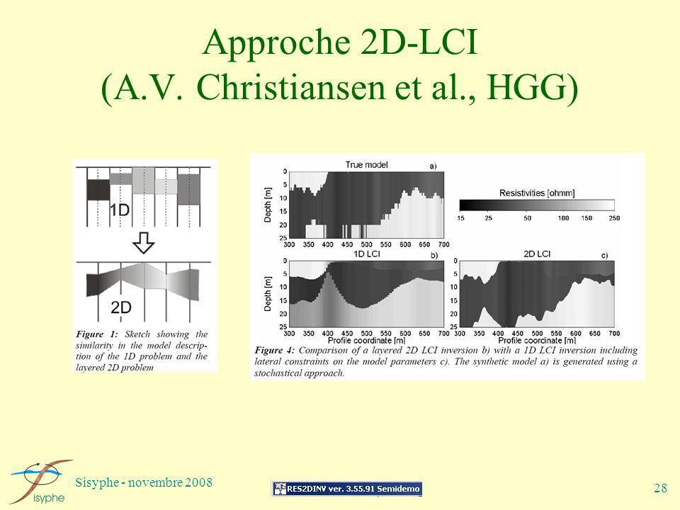 Approche 2D-LCI (A.V. Christiansen et al., HGG)