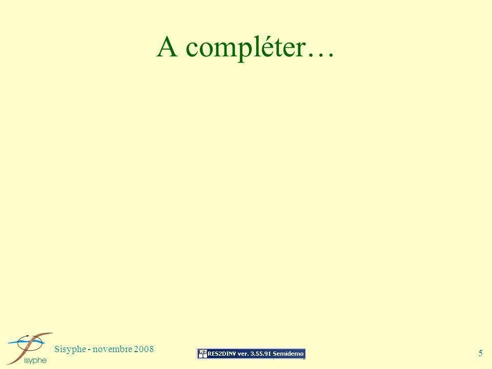 A compléter… Sisyphe - novembre 2008