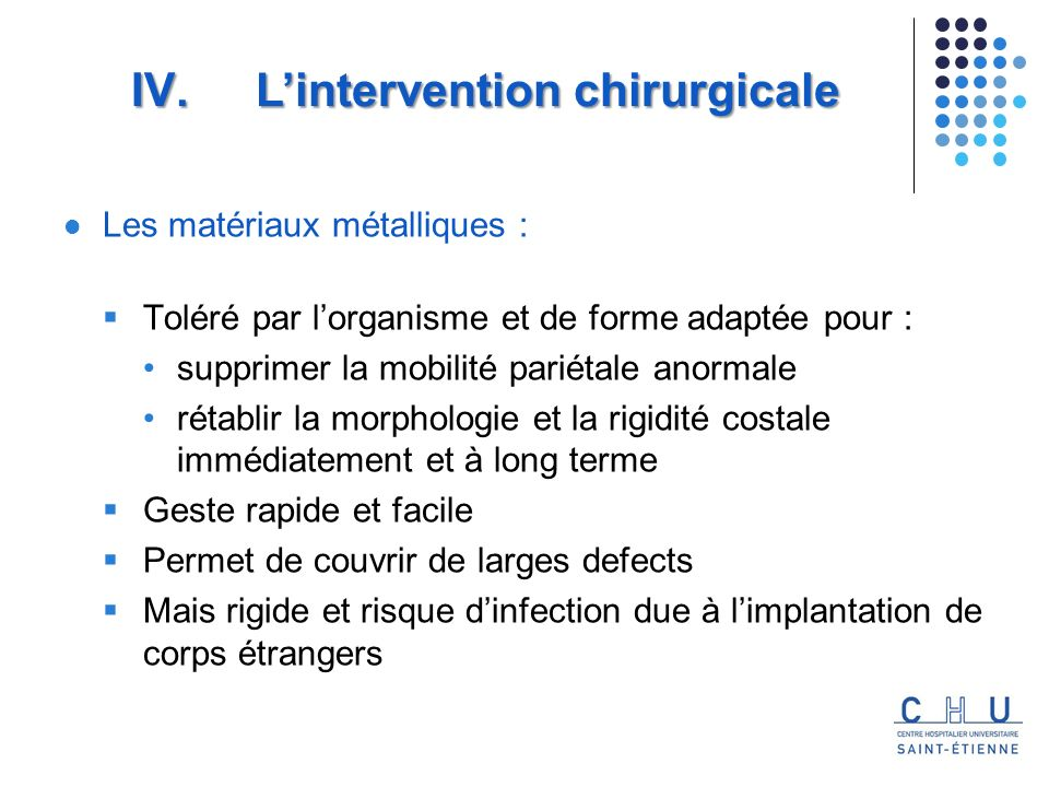 L'intervention chirurgicale