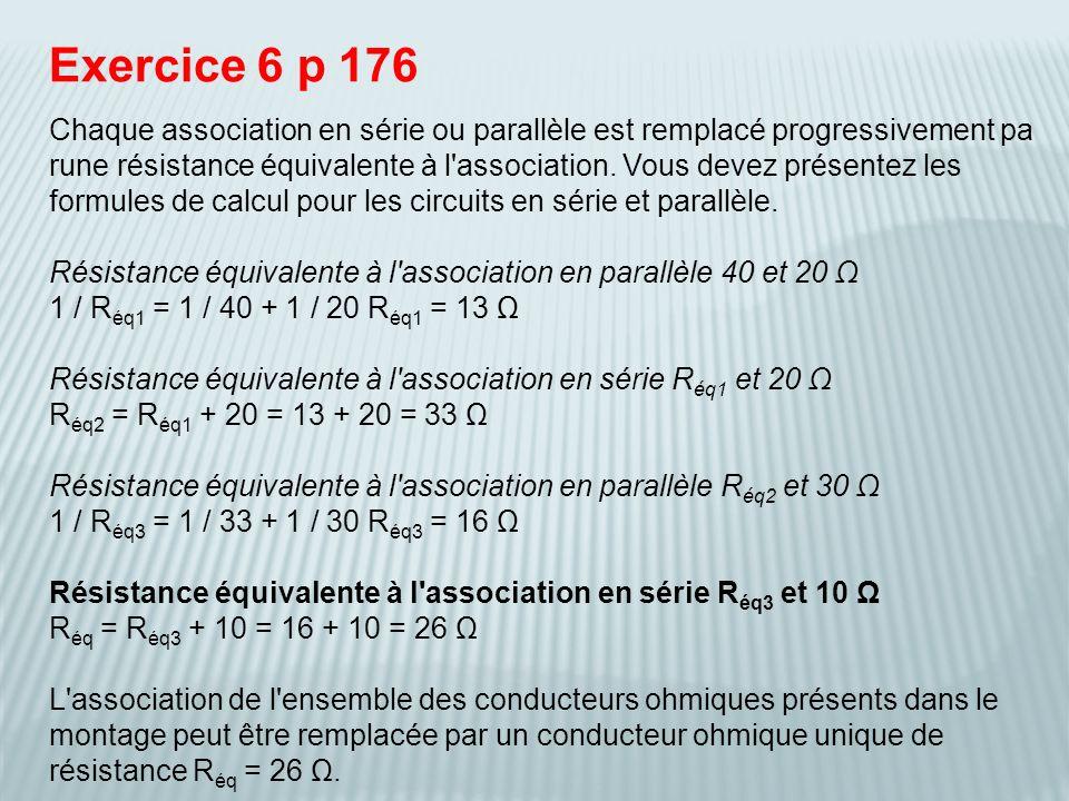 Exercice 6 p 176