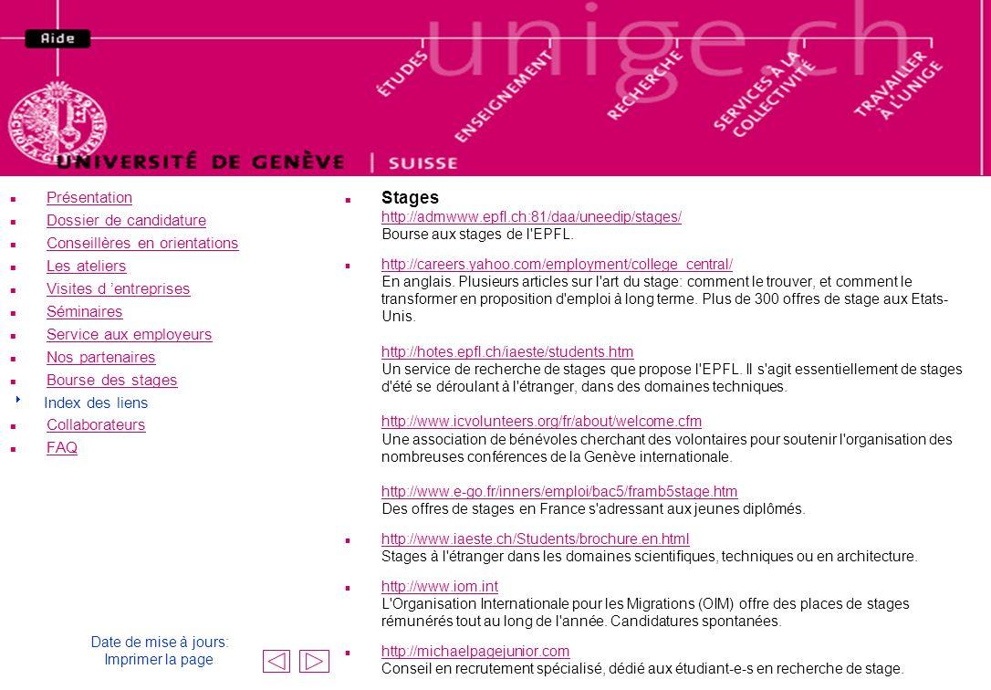 Le haut de la page est le même que celui du centre uni-emploi !