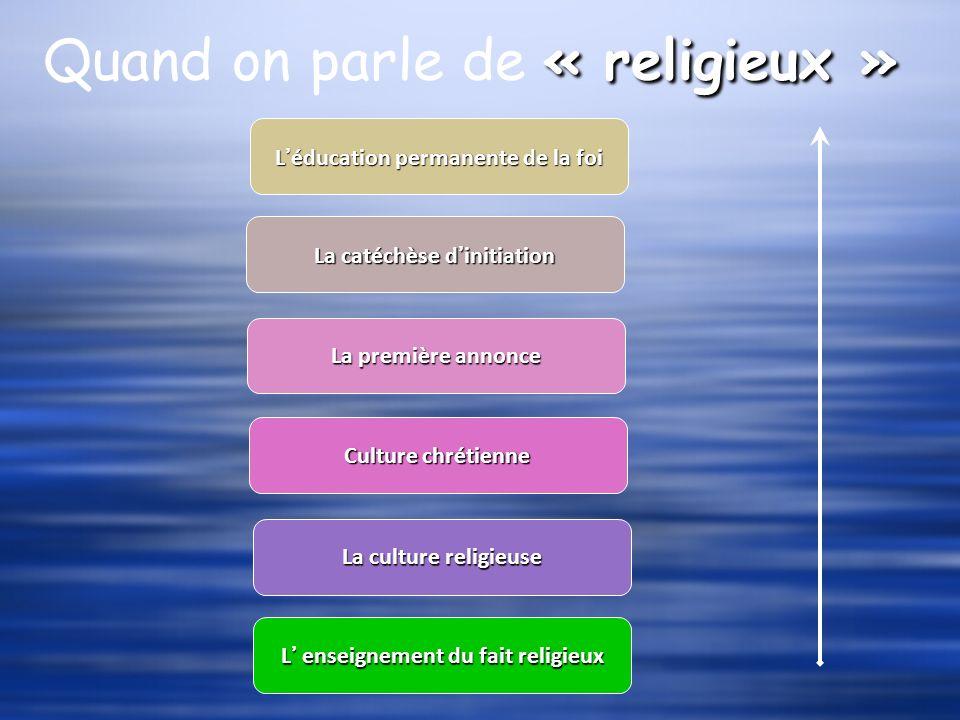 Quand on parle de « religieux »