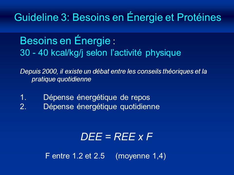 Guideline 3: Besoins en Énergie et Protéines